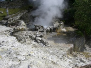 The Azores: bubbling mud